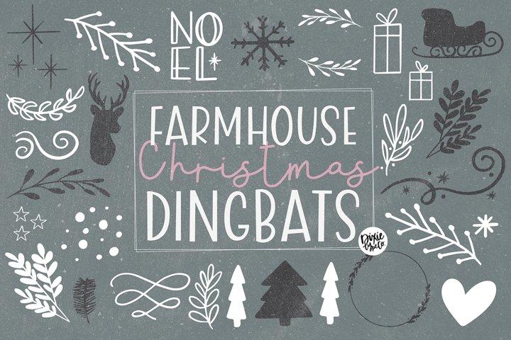 Farmhouse Christmas Dingbats