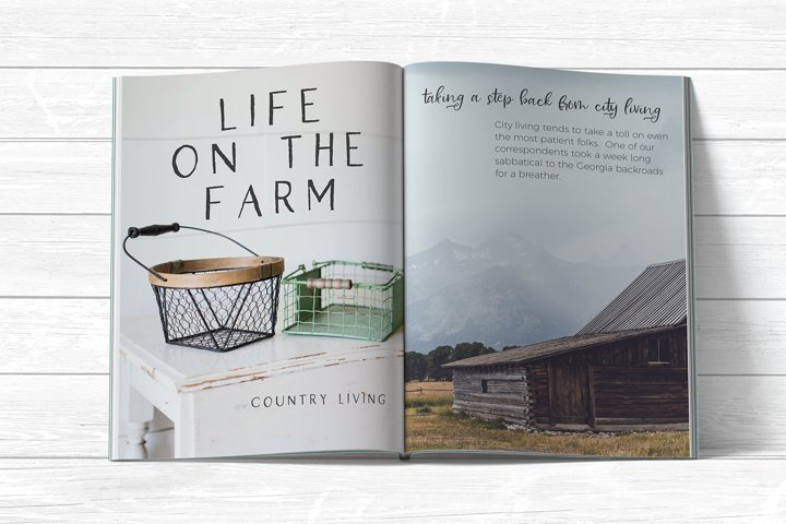 Farmhouse Country Rustic Cursive Font - Free Font of The Week Design5