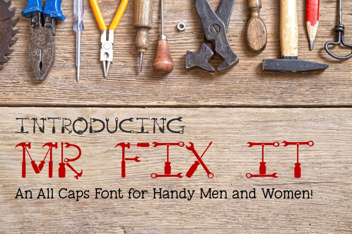 Mr Fix It - A Tool Font for Handy Men and Women