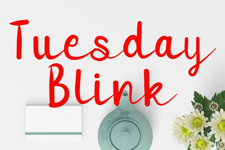 Tuesday Blink Wide Script