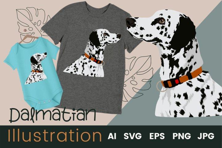Dog Vector Illustration | Dalmatian