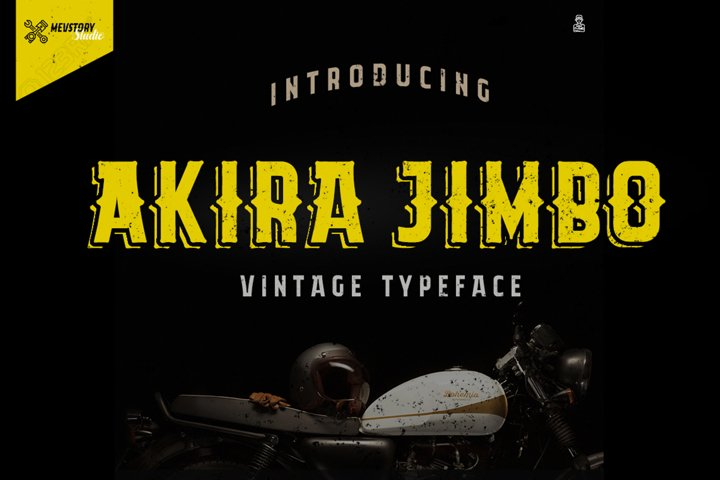 Akira Jimbo | Vintage Typeface