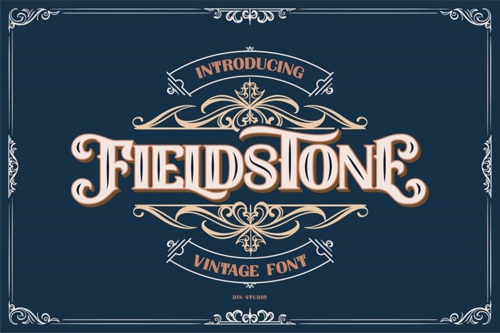 FIELDSTONE - LAYERED FONTS