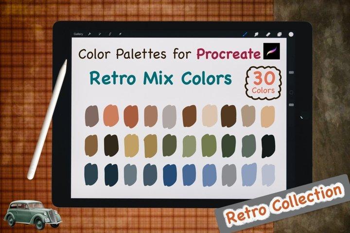 Color Palettes set for Procreate - Retro Mix Colors