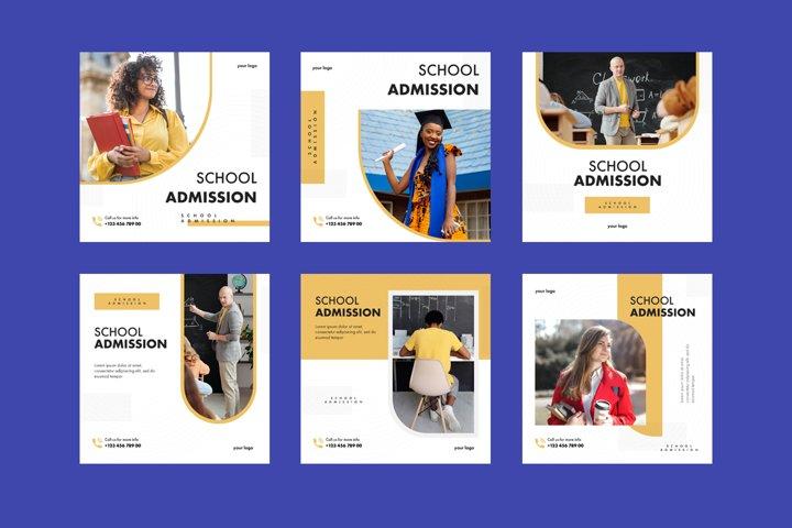 School Admission Instagram Template