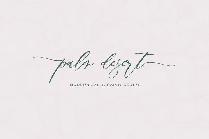 Palm Desert Modern Calligraphy Font