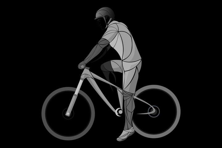 cycling dark, black