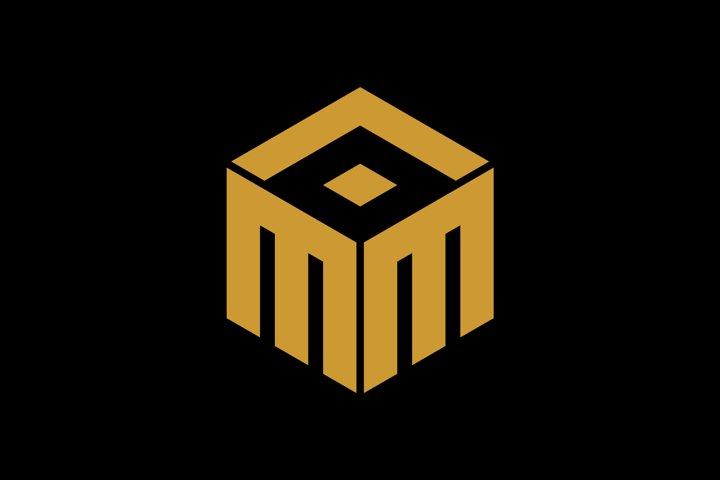 initial mma/mea/am monogram logo template