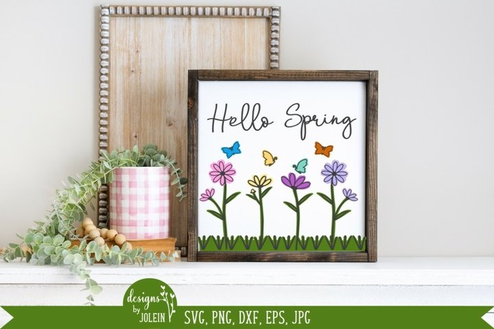Watercolor Spring SVG, PNG, DXF, EPS, Sublimation, Printable