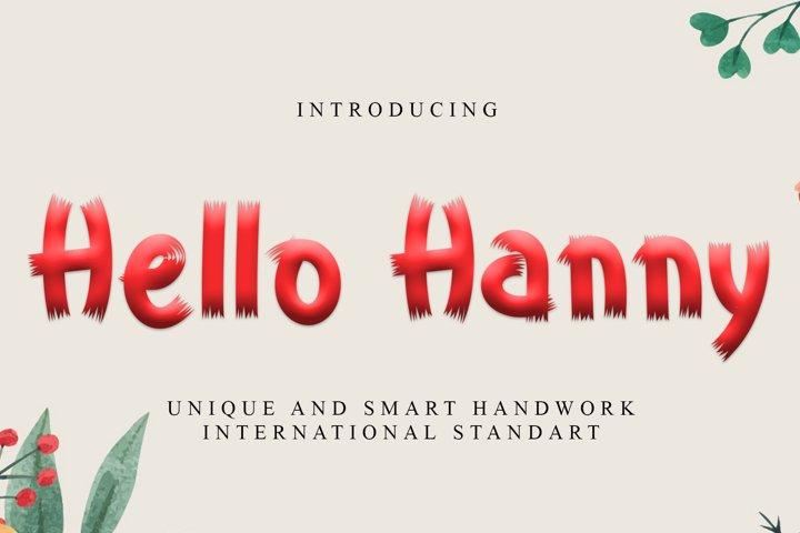 Hello Hanny