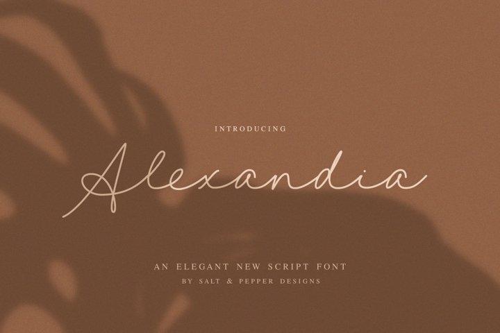 Alexandia Script Font