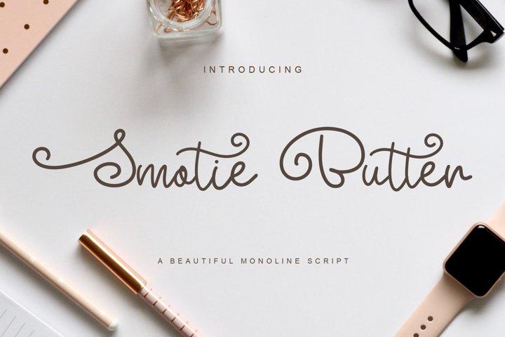 Smotie Butter Monoline Script