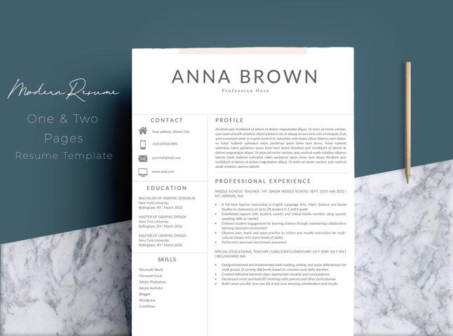 Resume Template CV Word