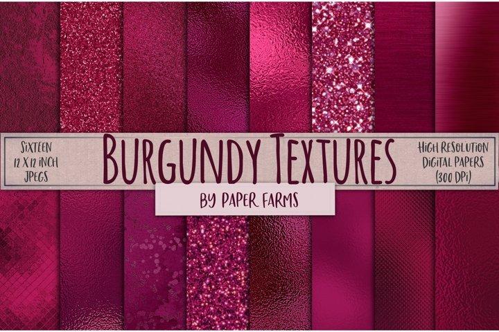 Burgundy foil glitter textures