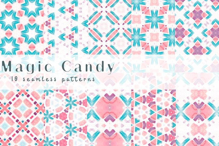 Magic Candy. Seamless patterns