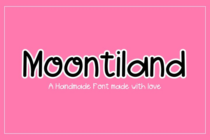 Moontiland - a fun and quirky font