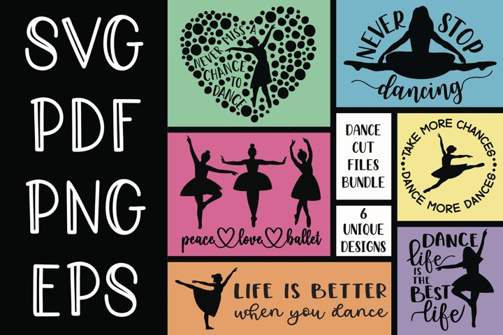 Bundle of 6 Dance Craft Files for Cutting Machines, Etc