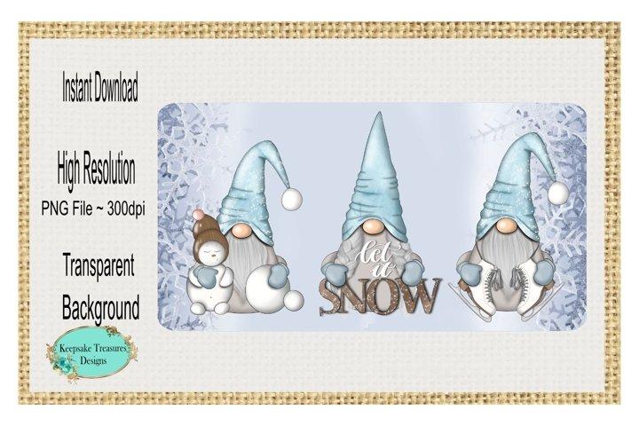 Let It Snow, Gnome Door Hanger Template