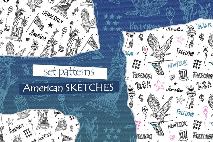 American sketches. Pattern collection.