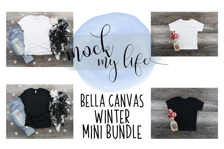 Mockup Winter Bundle - Bella Canvas 3001