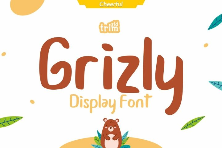 Grizly - Cheerfull Display Font