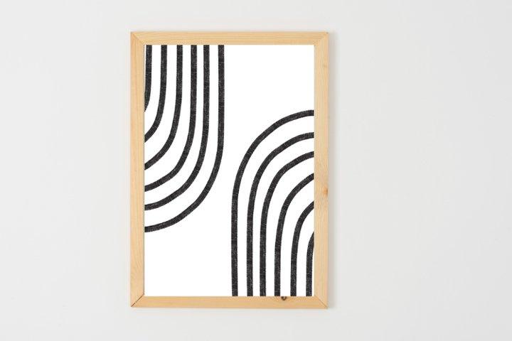 Black And White Line Art, Minimalist Wall Art, Printable Art
