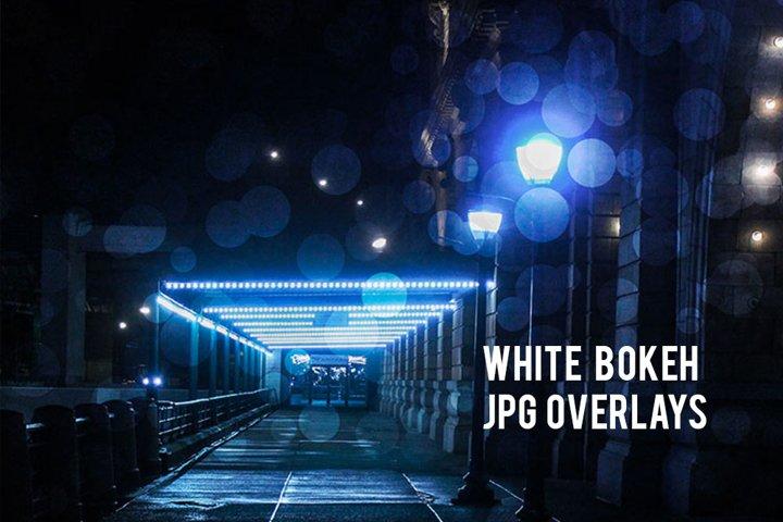 White Bokeh Overlays