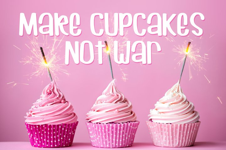 Cuppycake - an impossibly cute font - Free Font of The Week Design1
