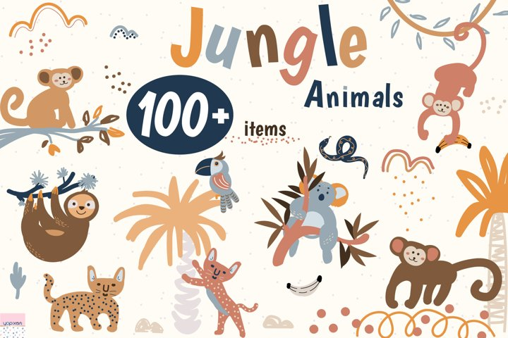 Jungle Animals Pack - Graphics & Patterns