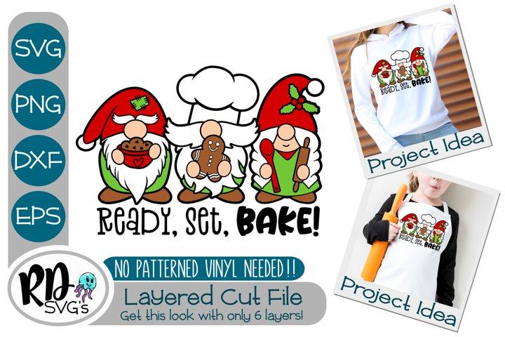 Ready Set Bake Gnome - A Cricut Christmas Layered SVG