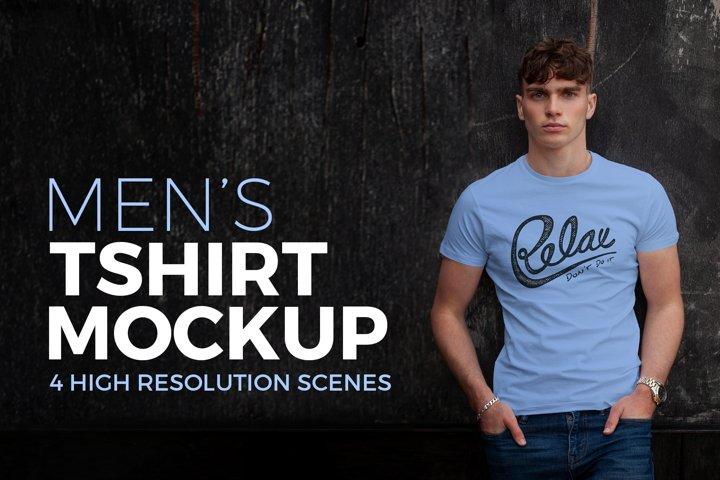 Mens T-shirt Mockup