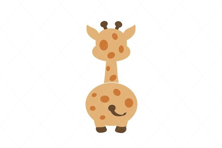Baby Giraffe Butt From Back SVG File Clipart