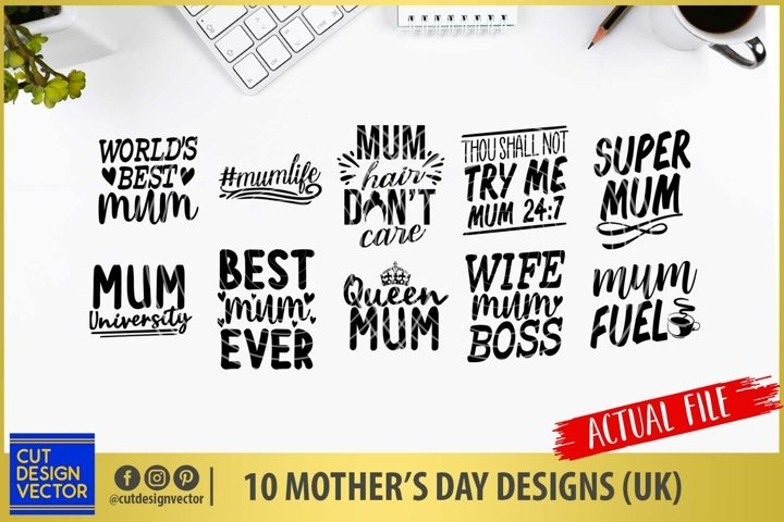 Mothers Day SVG Bundle UK