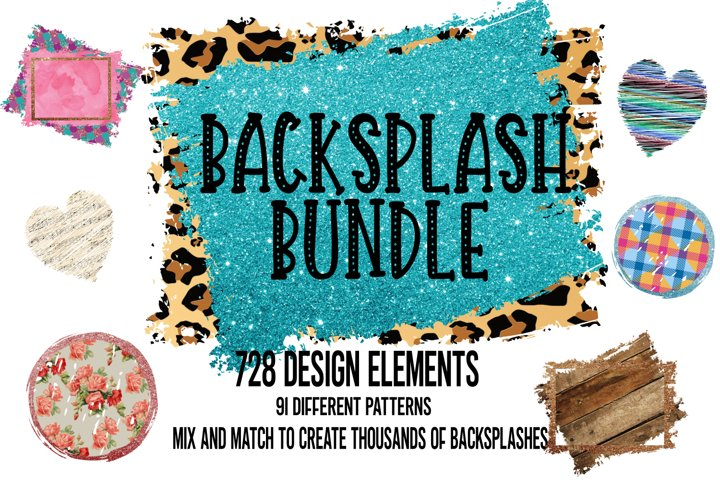 Backsplash Frames Bundle for Sublimation - 728 PNG Designs