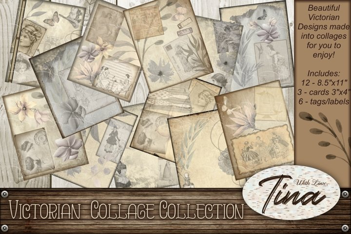 Victorian Antique Collage Designs plus Tags and Cards