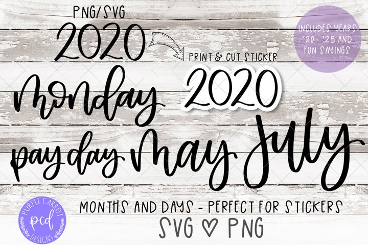 Planner Sticker SVG and PNG Files