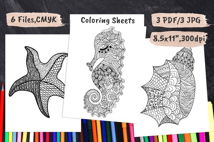 Coloring Book Pages PDF, JPEG