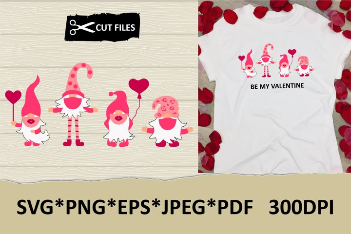 Valentine gnomes in mask kiss and hug you