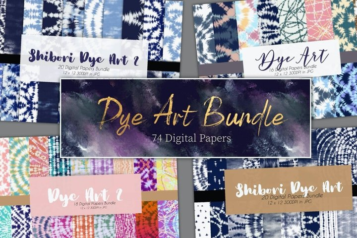 74 Tie Dye Art Digital Papers Bundle