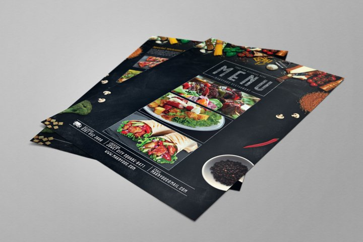 Restaurant Food Menu Flyer PSD Template