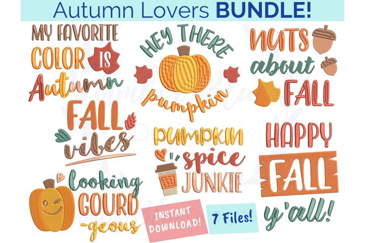 Autumn Lovers Embroidery File Bundle