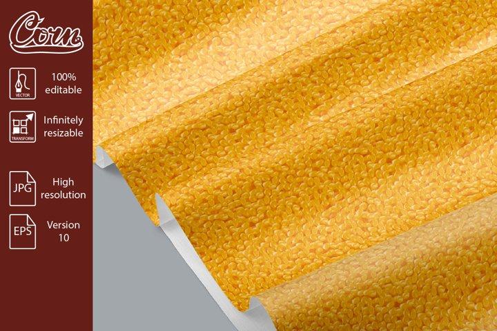 Corn maize grain bulk vector seamless pattern