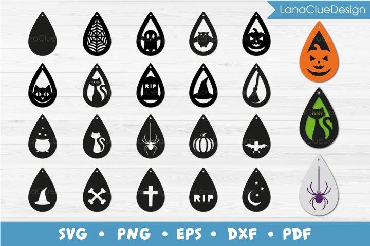 Halloween Earrings SVG Bundle - Halloween Jewelry Template