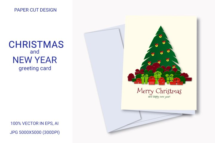 New Year and Christmas card