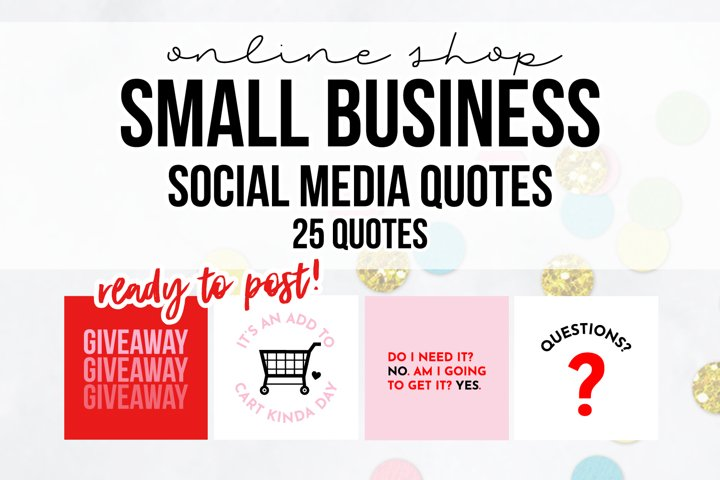 25 x Pink & Red Online Business Social Media Quotes