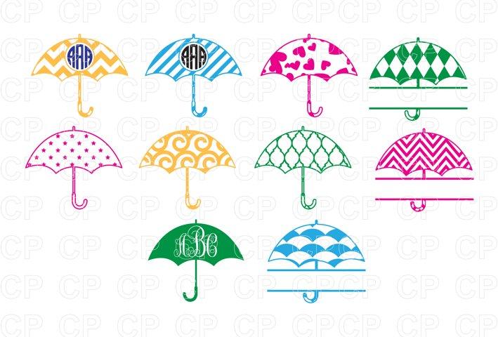 Umbrella Bundle SVG Cut Files, Umbrella Clipart