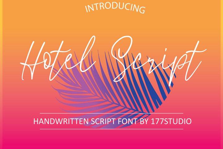 Hotel Script Font