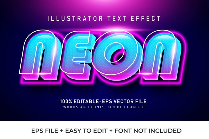 Neon Vector Text Effect