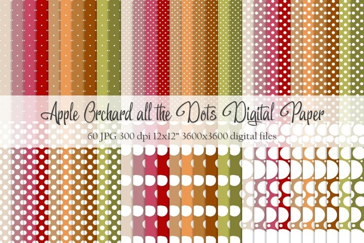 Apple Orchard all the Dots Digital Paper