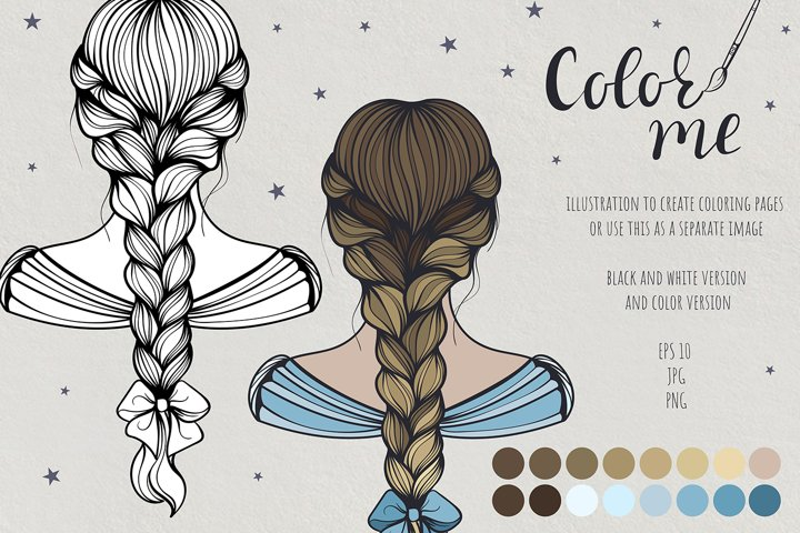 Color me. Womens hairstyle #1